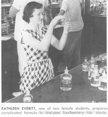female student from the 50s