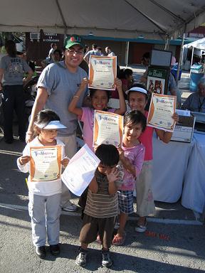 kids with Tox Mystery certificates